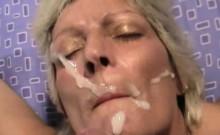 Blonde Cougar Loves Taking Facial Cumshots
