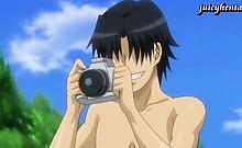 Anime lesbians rubbing and tribbing