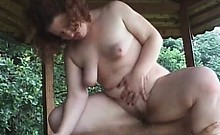 chubby mature outdoors fucking