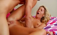 Hot milf Alysha Rylee shows off her superior blowjob skills