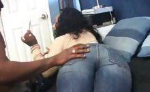 Horny Ebony BBW Dicked