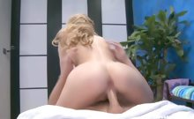 Hot blond Kelly fucks and sucks her massage client on the