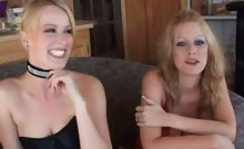 Pretty Blonde Interracial Cock Sharing