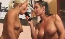 Two Bisexual Girls In A Hot Threesome